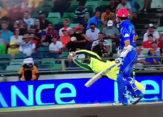 Australia's Aaron Finch takes stunning catch in the slips against Afghanistan in Cricket World Cup