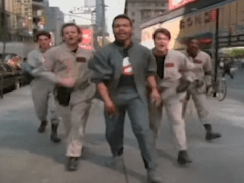 The Ghostbusters theme song without music is just a creepy dude stalking a girl in her pyjamas