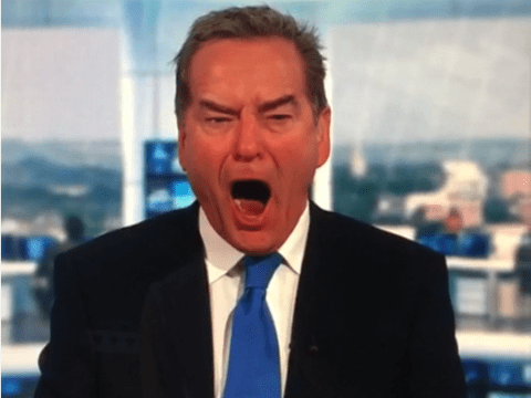 Jeff Stelling goes bananas as his beloved Hartlepool go 1-0 up against Mansfield