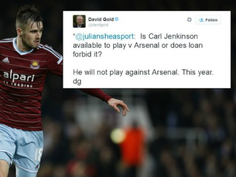West Ham owner David Gold hints at permanent transfer for Arsenal's Carl Jenkinson
