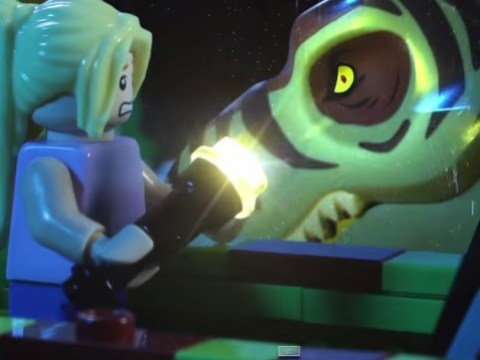 Genius father-daughter team create stop-motion Jurassic Park using '$100,000 worth of Lego'