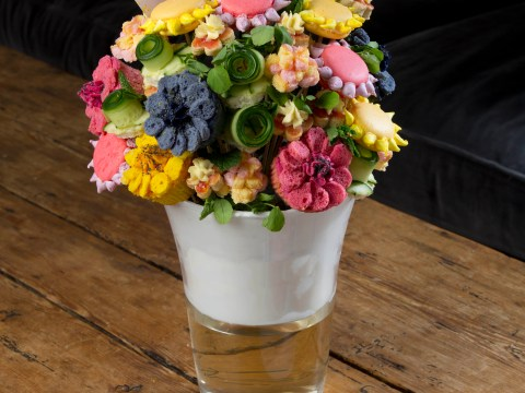 This scrummy Mother's Day bouquet is 100 per cent edible