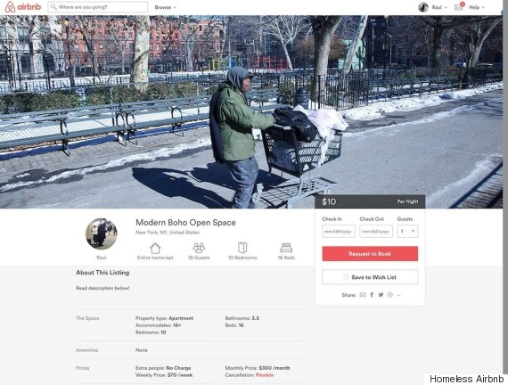 Airbnb is now advertising the best places to sleep rough