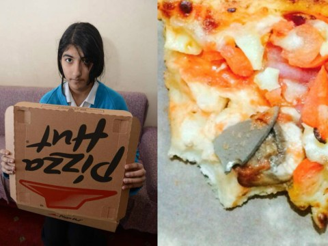 Girl bites into Pizza Hut takeaway and discovers knife blade