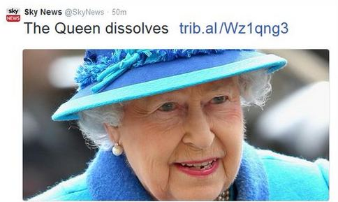 Not to freak everyone out, but the Queen may be disappearing