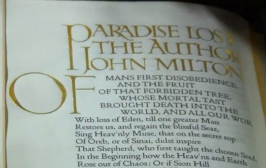 A classic example of the Dove's Type font (Picture: BBC)