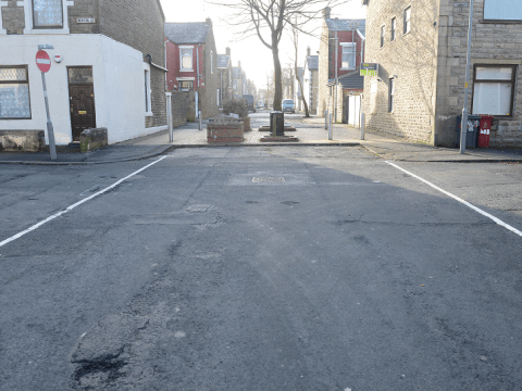 Contractors called 'stupid' after painting anti-parking lines across junction