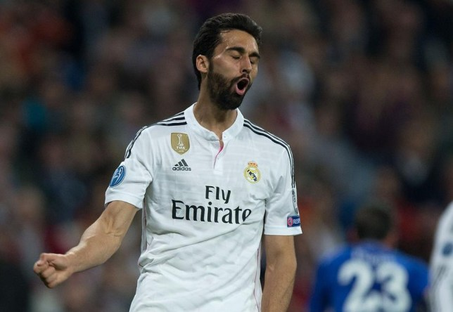 MADRID, SPAIN - MARCH 10: Alvaro Arbeloa of Real Madrid CF reacts as he fail to score during the UEFA Champions League round of 16 second leg match between Real Madrid CF and FC Schalke 04 at Estadio Santiago Bernabeu on March 10, 2015 in Madrid, Spain. Gonzalo Arroyo Moreno/Getty Images