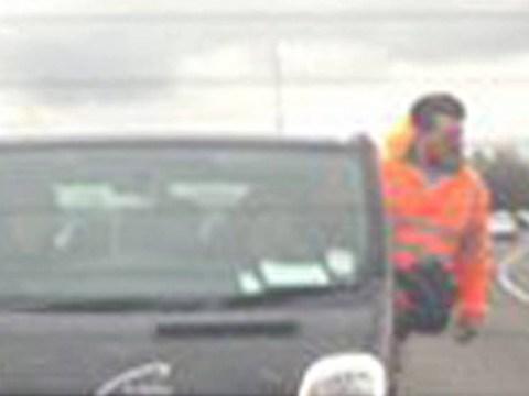 'Complete nut job' hangs out of van at 85mph on motorway