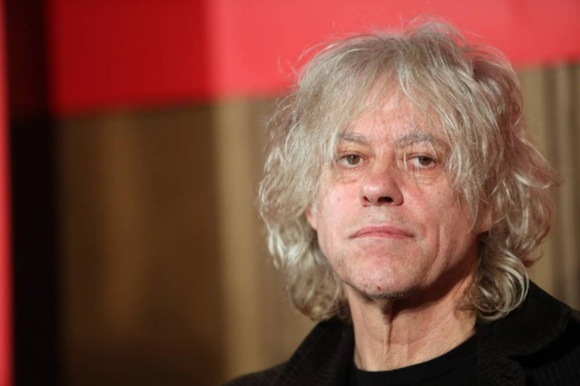 BERLIN, GERMANY - NOVEMBER 13: Irish Singer Bob Geldof attends a press conference about the German version of a 30th anniversary edition of the 80s poverty benefit project Band Aid, known for the song 'Do They Know It's Christmas,' at Soho House on November 13, 2014 in Berlin, Germany. Three decades after profits from the song's sales were raised to be donated towards famine aid for Ethiopia, the newest version is intended to help battle the Ebola crisis on the same continent, primarily in Guinea, Liberia and Sierra Leone, with local versions recorded in the United Kingdom, Germany, the United States and France. (Photo by Adam Berry/Getty Images)