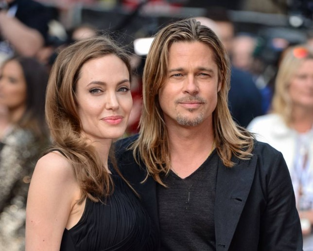 File photo dated 02/06/2013 of Angelina Jolie and Brad Pitt as their wine, 2014 Miraval Rose, from their French vineyard has gone on sale in a UK supermarket for the first time after winning rave reviews from critics. PRESS ASSOCIATION Photo. Issue date: Saturday April 11, 2015. The £18-a-bottle wine being stocked by Marks and Spencer, is produced at the couple's Chateau Miraval estate, where they married in August last year, in conjunction with the Perrin family of Chateau de Beaucastel. See PA story CONSUMER Brangelina. Photo credit should read: Dominic Lipinski/PA wire