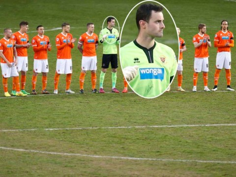 Blackpool goalkeeper Joe Lewis wore autographed shirt against Reading because club had run out of jerseys
