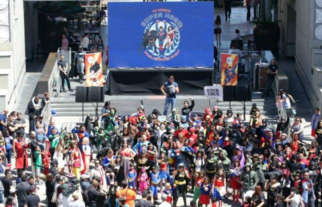 Superheroes world record Los Angeles
