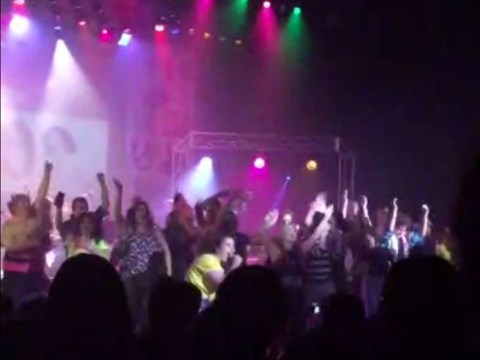 Shocking stage collapse caught on camera during school performance, leaving dozens injured