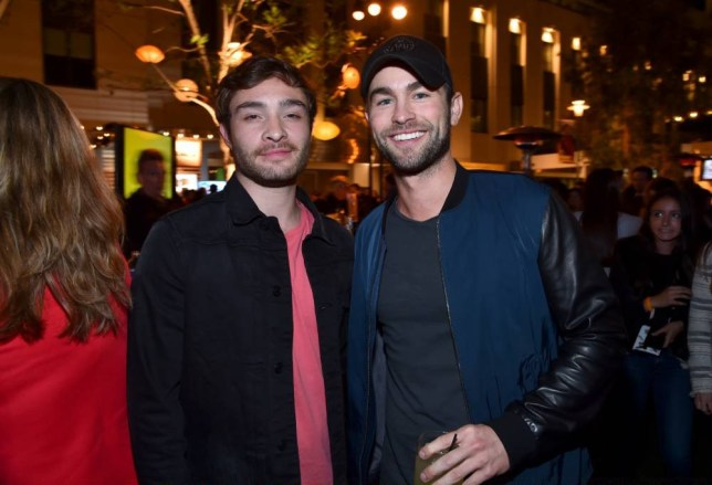 LOS ANGELES, CA - APRIL 25:  Actors Ed Westwick (L) and Chace Crawford attend City Year Los Angeles Spring Break at Sony Studios on April 25, 2015 in Los Angeles, California.  (Photo by Alberto E. Rodriguez/Getty Images for City Year Los Angeles)