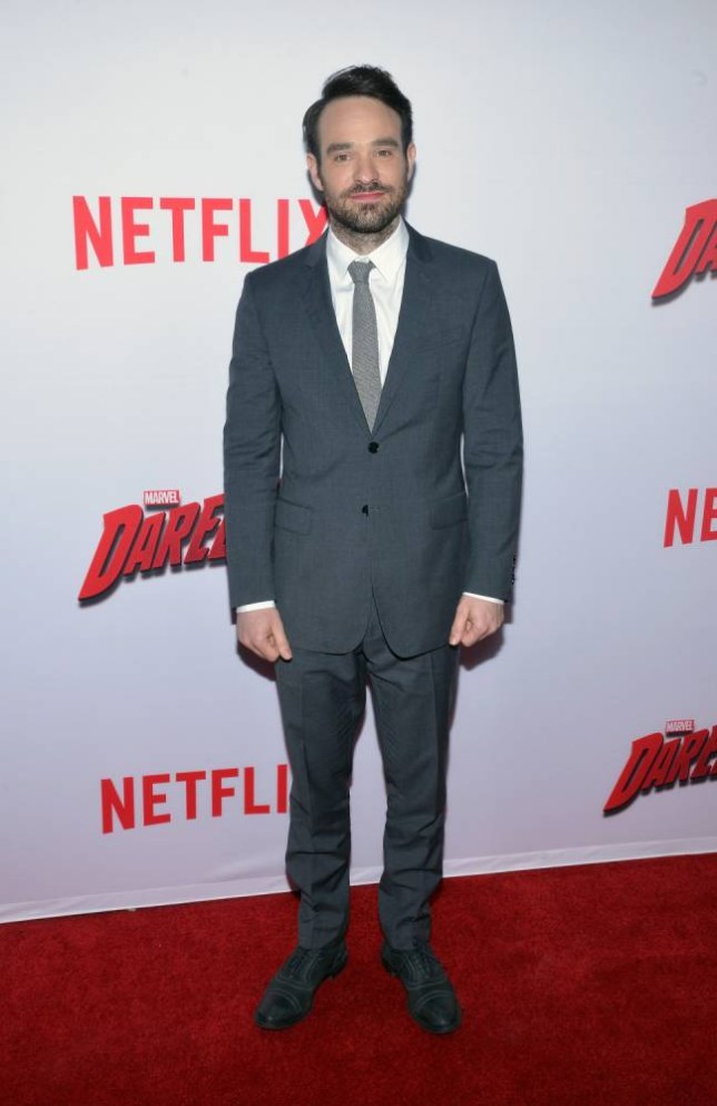 "LOS ANGELES, CA - APRIL 02:  Actor Charlie Cox attends the premiere of Netflix's ""Marvel's Daredevil""  at Regal Cinemas L.A. Live on April 2, 2015 in Los Angeles, California.  (Photo by Michael Tullberg/Getty Images)"