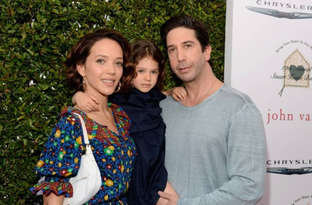 LOS ANGELES, CA - APRIL 26:  (L-R) Actress Zoe Buckman, Cleo Buckman Schwimmer and actor David Schwimmer attend the John Varvatos 12th Annual Stuart House Benefit at John Varvatos on April 26, 2015 in Los Angeles, California.  (Photo by Michael Kovac/Getty Images for John Varvatos)
