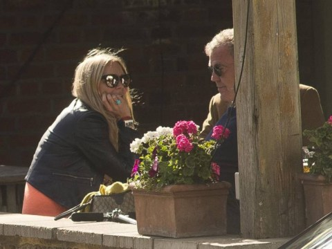 Is he giving her Top Gear tips? Jeremy Clarkson hangs out with Jodie Kidd as Hammond and May are back at the BBC