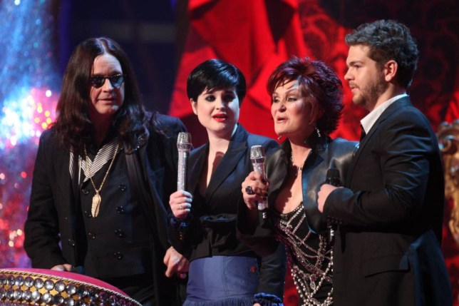 The Osbournes On Stage At The Brit Awards 2008, Earls Court, London. (Photo by Justin GoffUK Press via Getty Images)