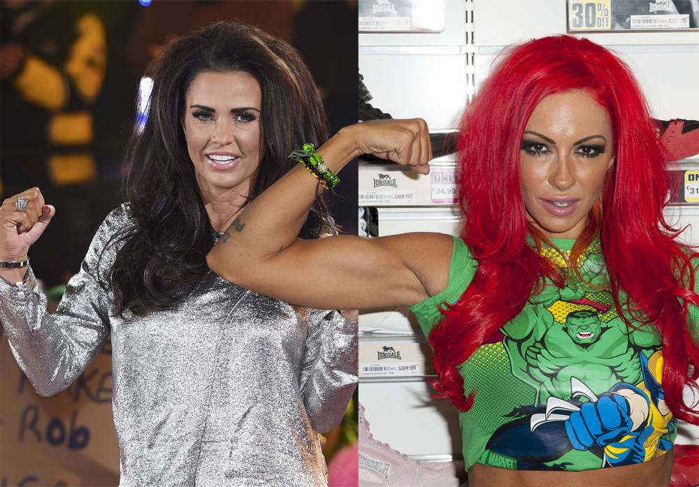 LONDON, UNITED KINGDOM - AUGUST 31: Jodie Marsh presents Loaded Glamour Girl Wrestling at Lillywhites on August 31, 2012 in London, England. (Photo by Simon Burchell/Getty Images)