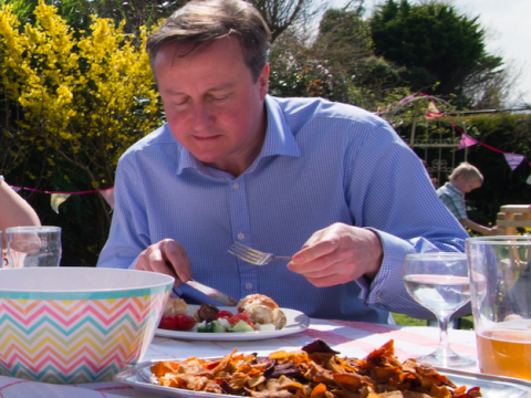 David Cameron doesn't know how to eat a hot dog