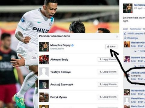 Liverpool 'transfer target Memphis Depay hints he's joining Reds by liking Facebook post'