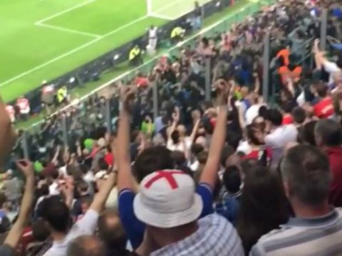 England fans ruin Italy's Mexican wave during international friendly in Turin