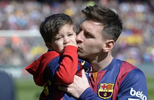 Lionel Messi has one son, Thiago, with girlfriend Antonella Roccuzzo