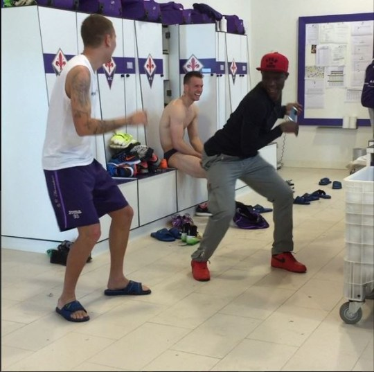 The Fiorentina changing room looks like a lot of fund (Picture: Instagram)