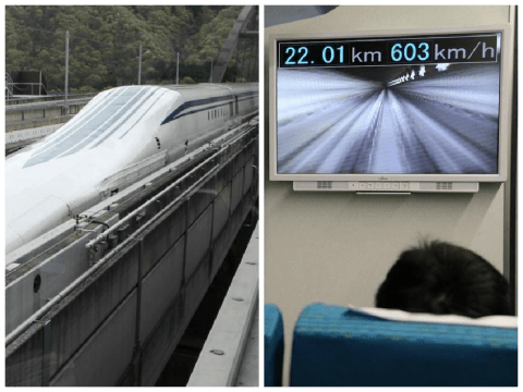 Japan's levitating train just smashed the speed record twice in one week