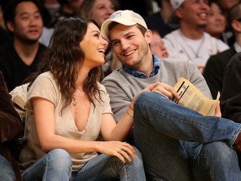 Mila Kunis and Ashton Kutcher laugh off claims she stole a chicken two decades ago