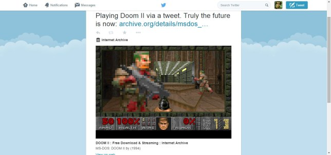Play Doom II and old PC games from inside Twitter | Metro News