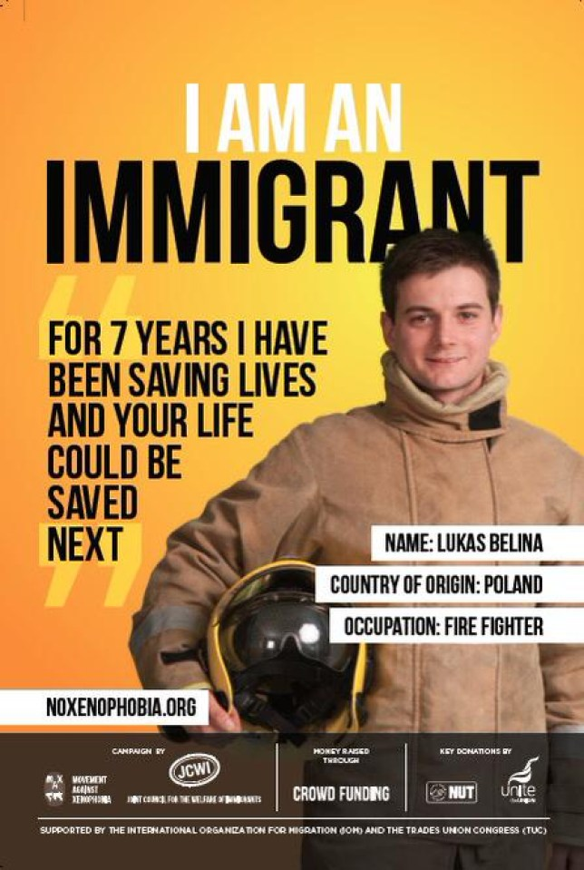 "The ""I am an immigrant"" campaign was launched by Movement Against Xenophobia, part of the Joint Council for the Welfare of Immigrants (Picture: Joint Council for the Welfare of Immigrants)"