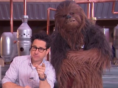 J.J Abrams and Chewbacca share a Twizzler on TV and it's seriously cute