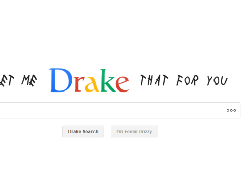 At last, the Drake themed search engine is here