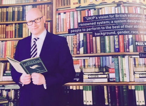 Eagle-eyed voters spot a photoshopped bookcase in Ukip's manifesto