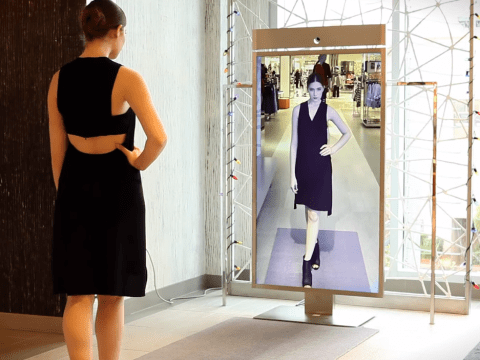 Someone finally made a mirror that lets you see what clothes look like from behind