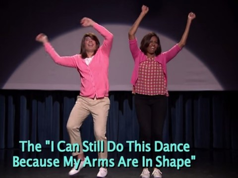 Michelle Obama throws down with Jimmy Fallon to show off their 'Mom Dancing'