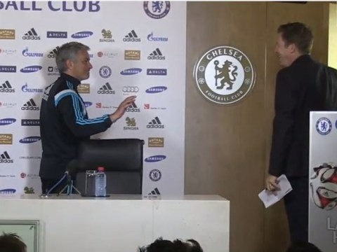 Jose Mourinho pulls comical prank on Chelsea media officer ahead of Arsenal press conference