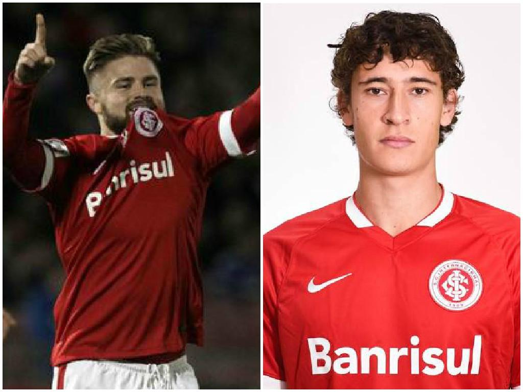Manchester United are keeping tabs on Eduardo Sasha (left) and Rodrigo Dorado (Pictures: AP/Sport Club Internacional)