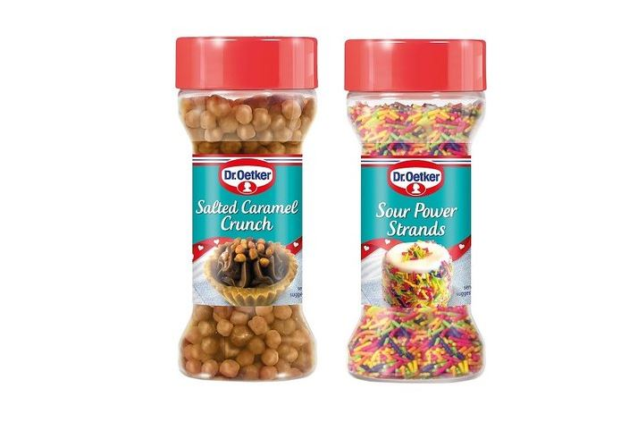 Dr Oetker sour sprinkles and salted caramel balls just made cup cakes a whole lot more exciting