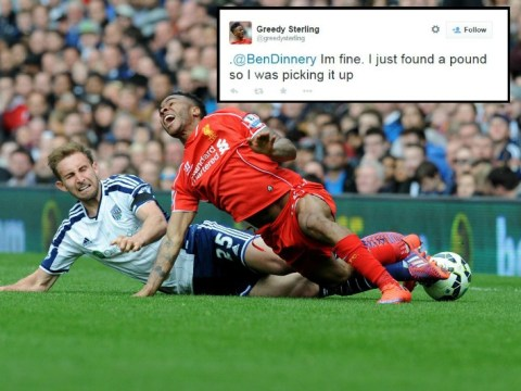 'Greedy' Raheem Sterling brilliantly trolled on Twitter after Liverpool injury scare