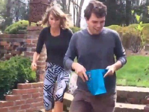 Taylor Swift REALLY gets into Easter egg hunts