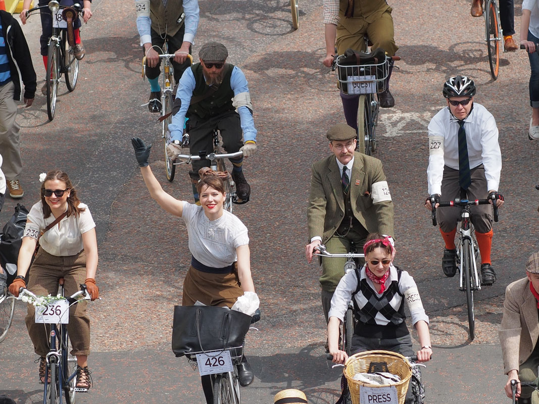 Here's why so many cyclists are wearing tweed instead of lycra this weekend