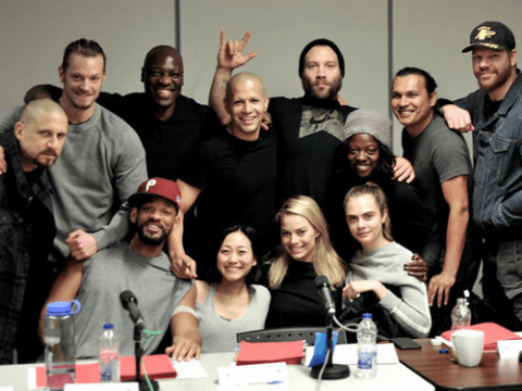 Suicide Squad director David Ayer tweets first shot of cast together – but there's no sign of Jared Leto