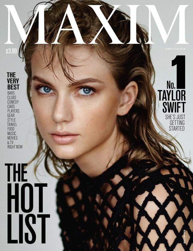 Taylor Swift Tops the 2015 Maxim Hot 100 Credit: Maxim