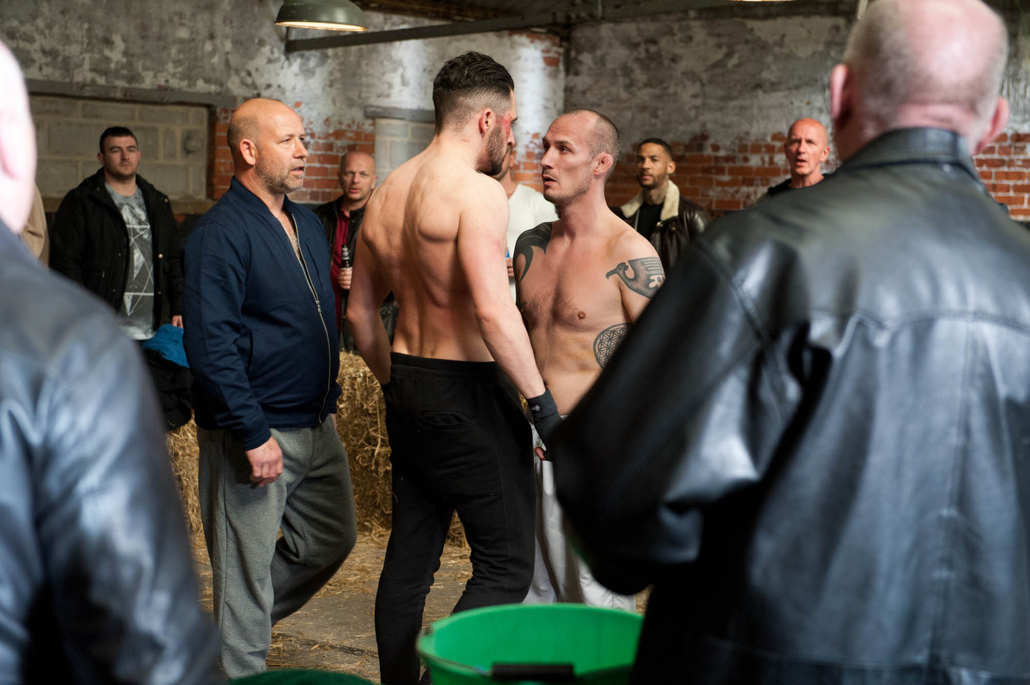 FROM ITV STRICT EMBARGO -TV Listings Magazines & websites Tuesday 19 May 2015, Newspapers Saturday 23 May 2015  Emmerdale - Ep 7191 Monday 25 May 2015  Debbie Dingle [CHARLEY WEBB] explains to Pete Barton [ANTHONY QUINLAN] and Finn Barton [JOE GILL] that Ross Barton [MICHAEL PARR], who is about to fight, is in trouble, urging them to help her find him. They soon find Ross at the venue preparing for his big fight, seemingly determined to go ahead.  Debbie and Cain Dingle [JEFF HORDLEY] are shocked to learn Zak Dingle [STEVE HALLIWELL] pawned all Lisa's jewellery to bet on Ross winning the fight. As the fight ensues it makes for uncomfortable viewing, but when Debbie witnesses an exchange between Ross and Charlie she realises there's more riding on this than meets the eye. Will Debbie get through to Ross? And what will Pete make of Debbie's over concern for his brother?   Picture contact: david.crook@itv.com on 0161 952 6214 Photographer - Amy Brammall This photograph is (C) ITV Plc and can only be reproduced for editorial purposes directly in connection with the programme or event mentioned above, or ITV plc. Once made available by ITV plc Picture Desk, this photograph can be reproduced once only up until the transmission [TX] date and no reproduction fee will be charged. Any subsequent usage may incur a fee. This photograph must not be manipulated [excluding basic cropping] in a manner which alters the visual appearance of the person photographed deemed detrimental or inappropriate by ITV plc Picture Desk. This photograph must not be syndicated to any other company, publication or website, or permanently archived, without the express written permission of ITV Plc Picture Desk. Full Terms and conditions are available on the website www.itvpictures.com