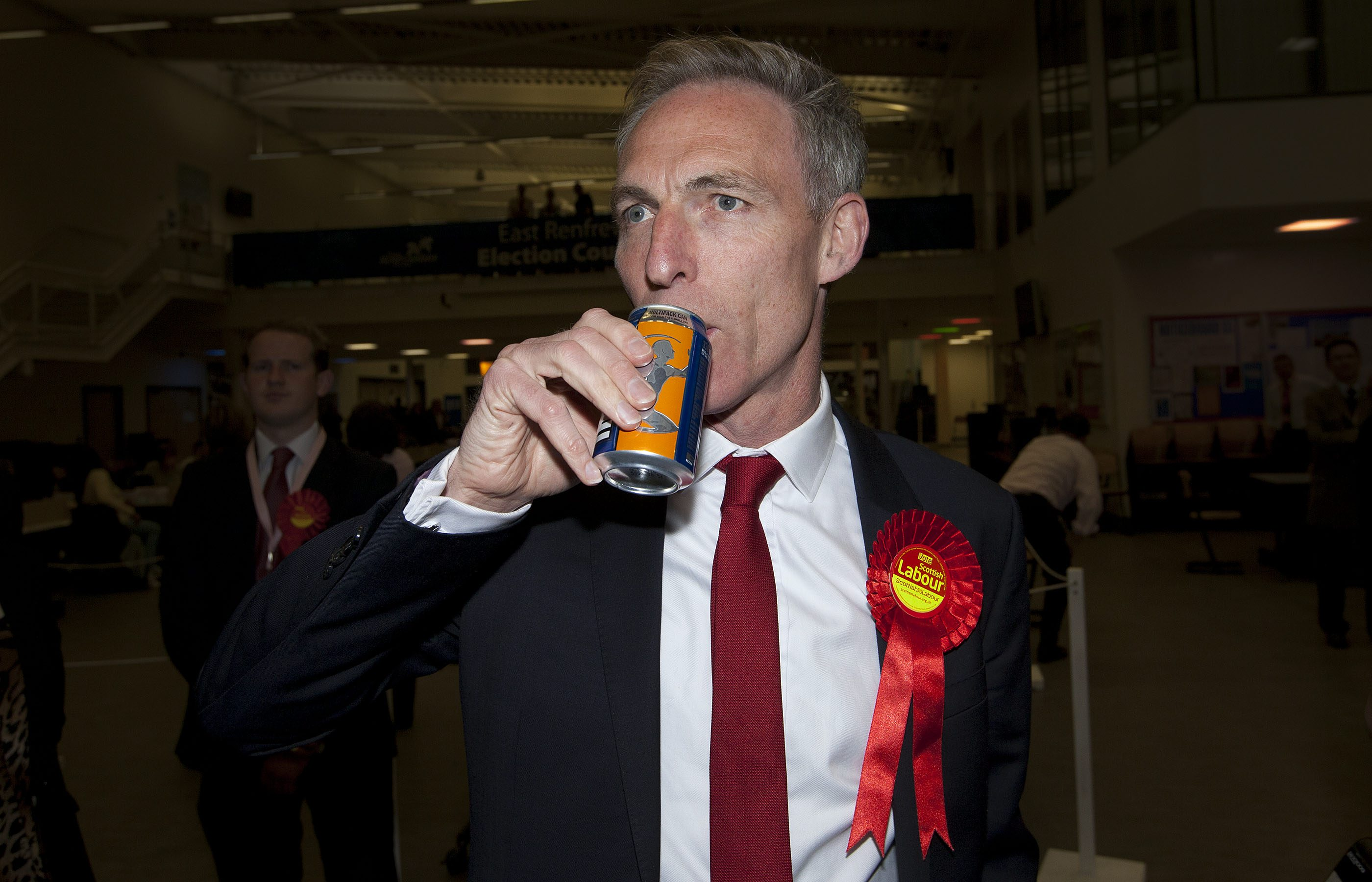 General Election 2015. Scottish Labour leader Jim Murphy looses his seat in East Renfrewshire to the SNP, Murphy had held the seat since 1997. May 7 2015