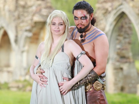 Cosplay fans dressed as Daenerys Targaryen and Khal Drogo fall in love in real life