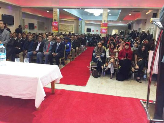 A scene from the Labour rally in Hodge Hill, Birmingham, on May 2, 2015. This picture was Tweeted by West Midlands MEP Sion Simon.